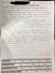 spanish 1 writing 2