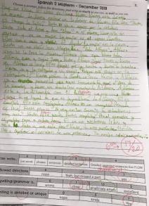 spanish 2 writing